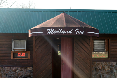 Entrance view of Midland Inn
